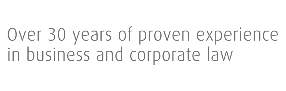 Over 30 years of proven experience in business and corporate law